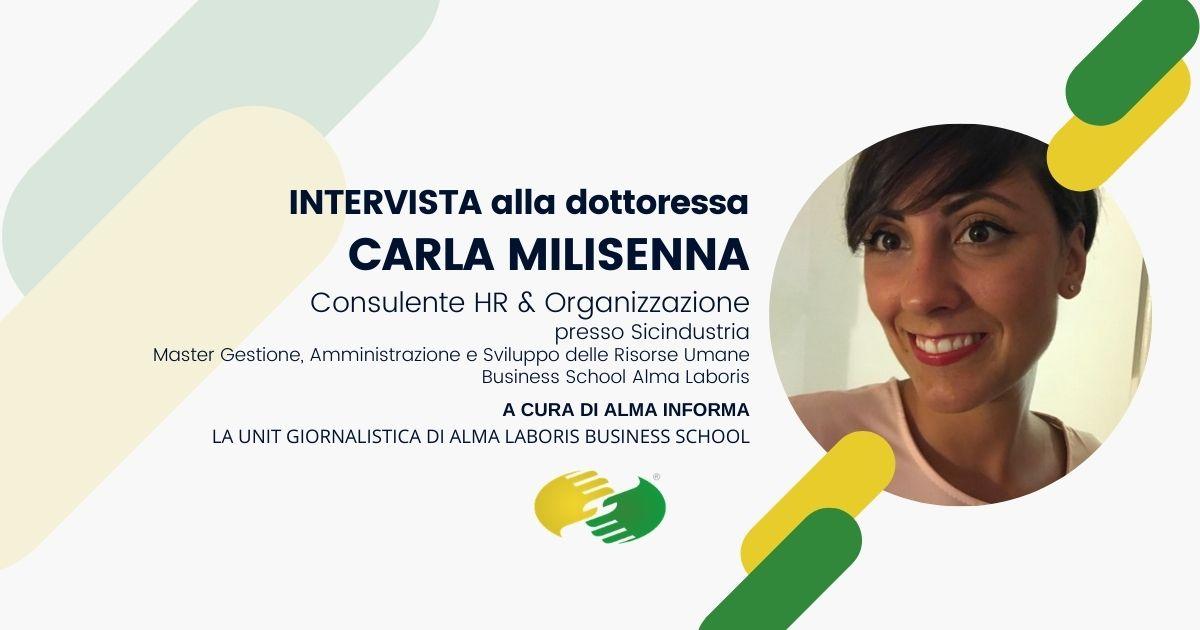 """Opinioni Master Risorse Umane, la dottoressa Carla Milisenna: """"Quanto appreso fondamentale per inserirmi nelle HR"""""""