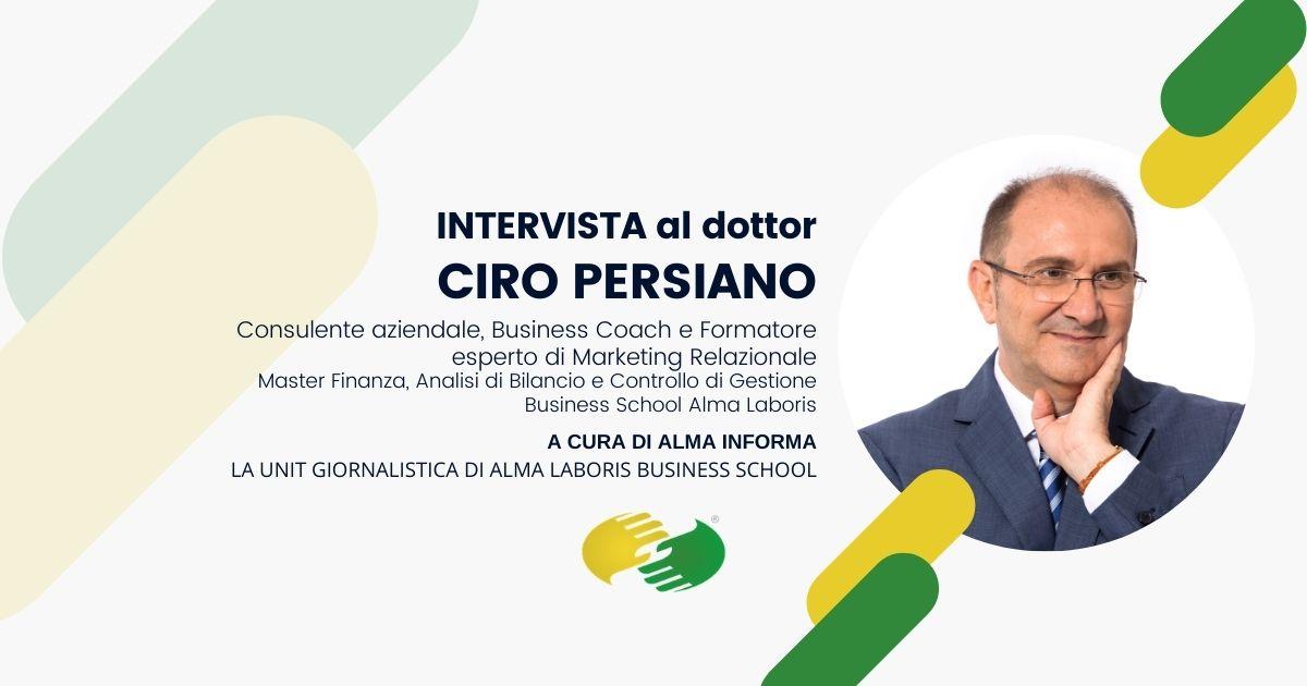 """Opinioni Master Finanza, il dottor Ciro Persiano: """"Ho consolidato la mia credibilità professionale"""""""