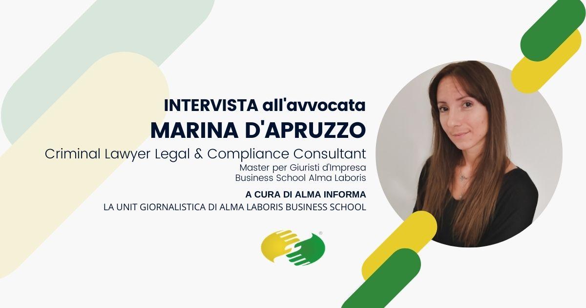 Opinioni Master per Giuristi d'Impresa, l'esperienza dell'avvocata Marina D'Apruzzo