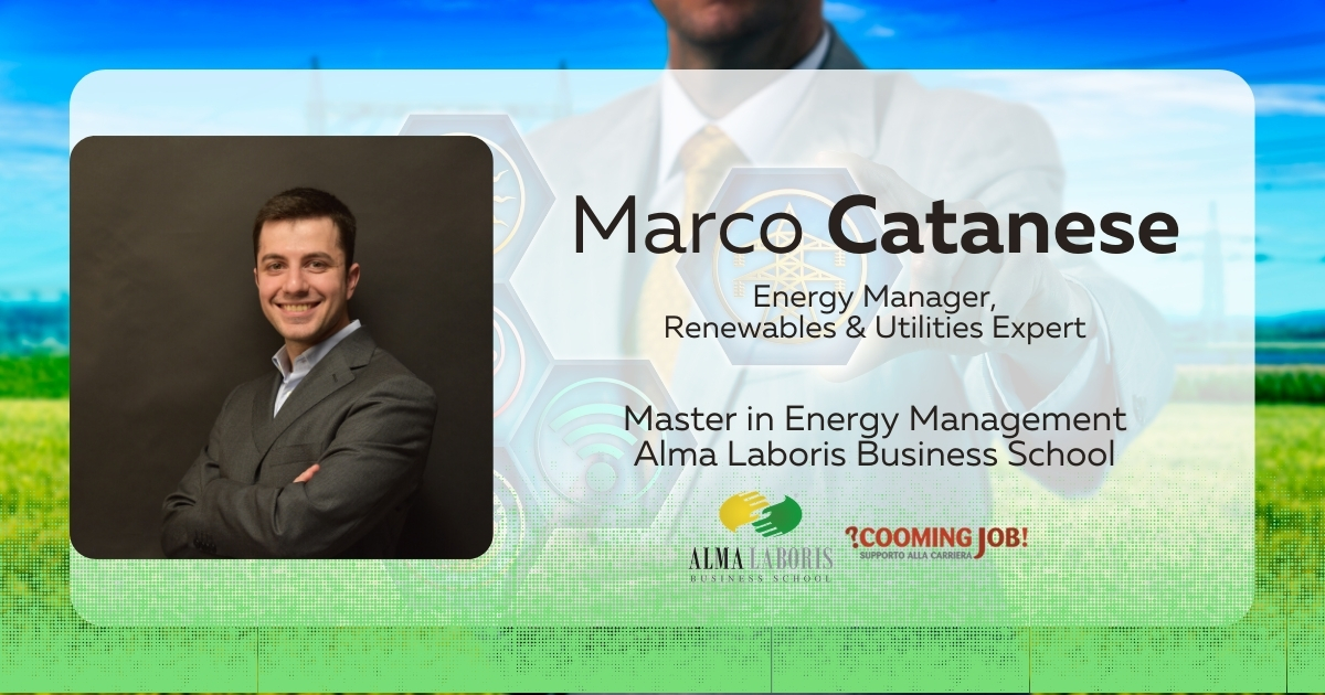 """Master Energy Management, il dottor Marco Catanese: """"Il trampolino di lancio della mia carriera"""""""
