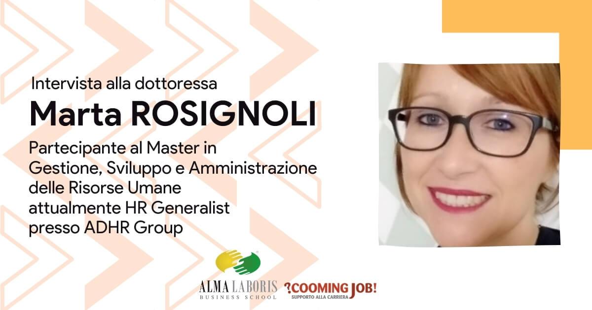 Master Risorse Umane, l'esperienza della dottoressa Marta Rosignoli con Alma Laborisv
