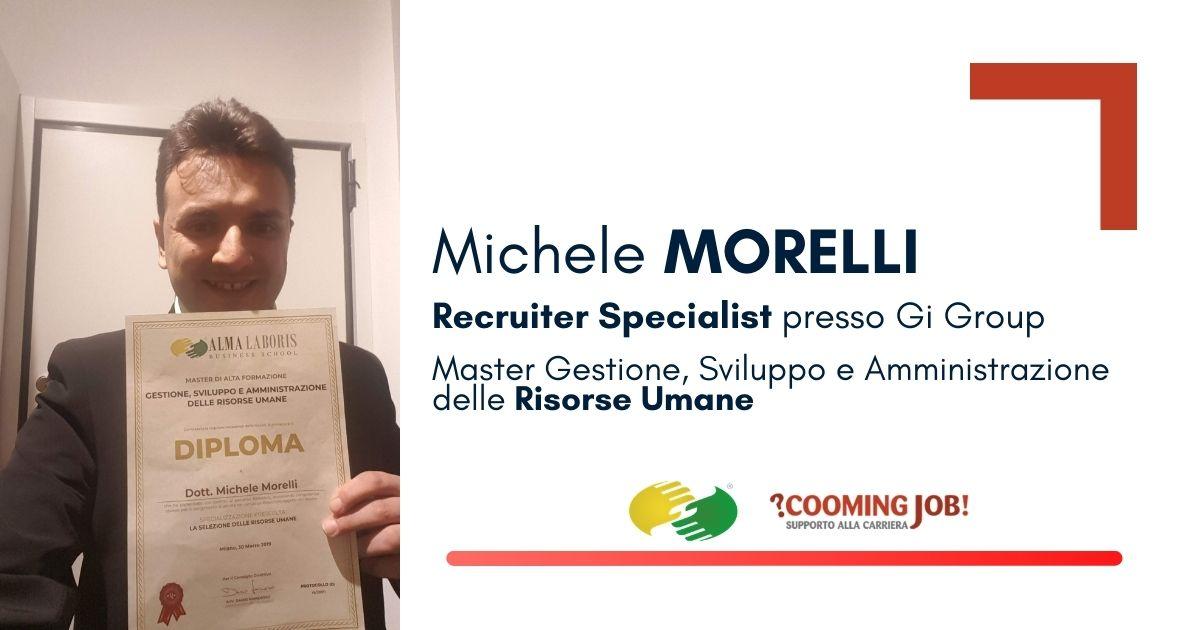 """Opinioni Master Risorse Umane, il dottor Michele Morelli: """"Alma Laboris ha cambiato la mia vita"""""""