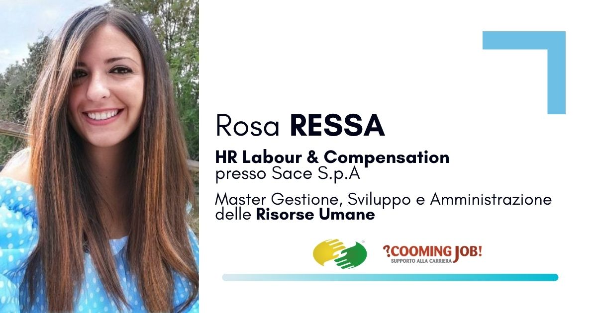"""Master Risorse Umane, la dottoressa Rosa Ressa: """"Io, avvocato che ha scelto il settore HR"""""""