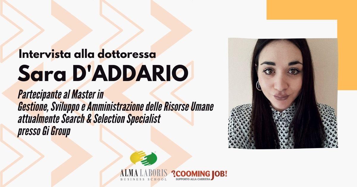 """Opinioni Master Risorse Umane, la dottoressa Sara D'Addario: """"Mi ha permesso di crescere in azienda"""""""