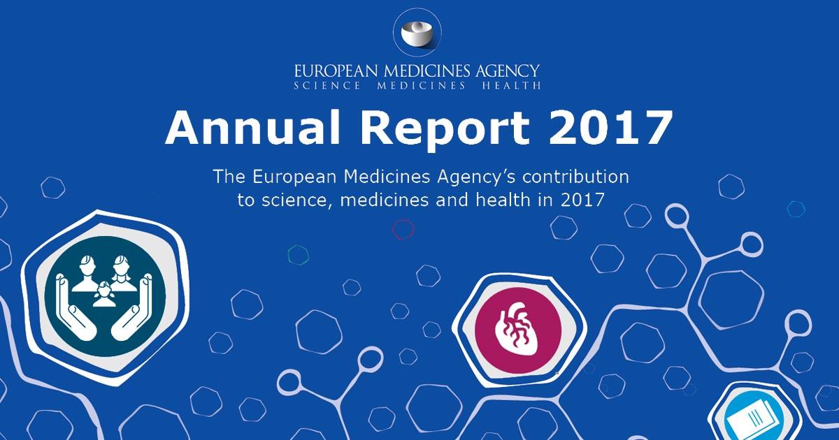 EMA: Pubblicato il Report Annuale 2017