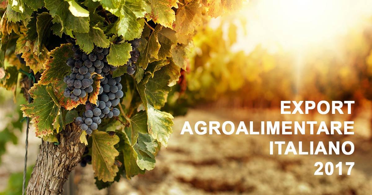 Export Agroalimentare Italiano oltre i 40 miliardi di euro nel 2017