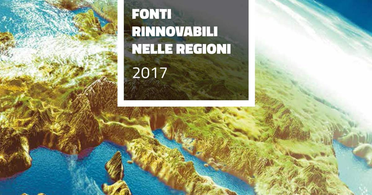 Pubblicati i Dati Statistici sui Consumi di Energia da Fonti Rinnovabili nelle Regioni Italiane