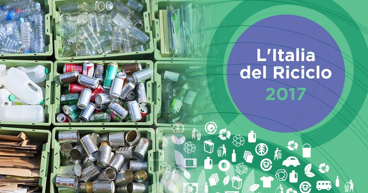 Nel 2016 a riciclo il 67% degli imballaggi, carta e acciaio tra le eccellenze