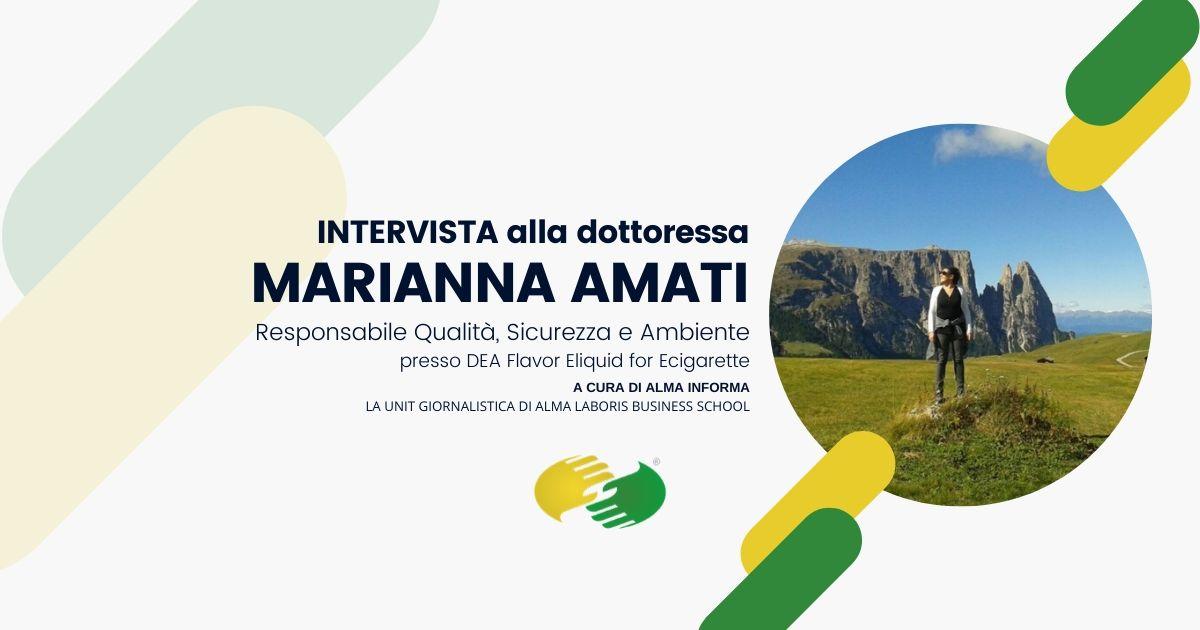 """La dottoressa Marianna Amati: """"Dopo 7 anni il Master regala ancora spunti per vincere sfide"""""""