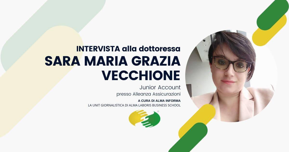 """La dottoressa Sara Maria Grazia Vecchione: """"Utilizzo molte delle competenze acquisite nel Master"""""""