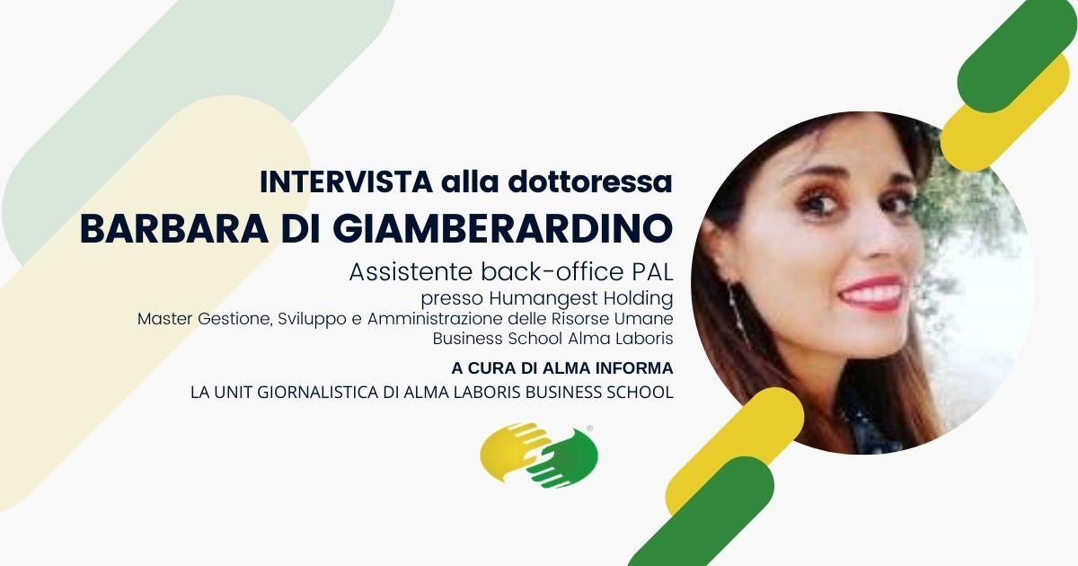 Opinioni Master Risorse Umane, la dottoressa Barbara Di Giamberardino