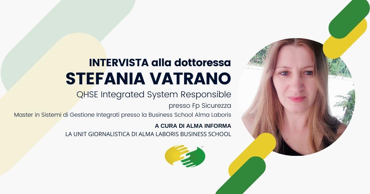 """La dottoressa Stefania Vatrano: """"Il Master un rilevante step formativo"""""""