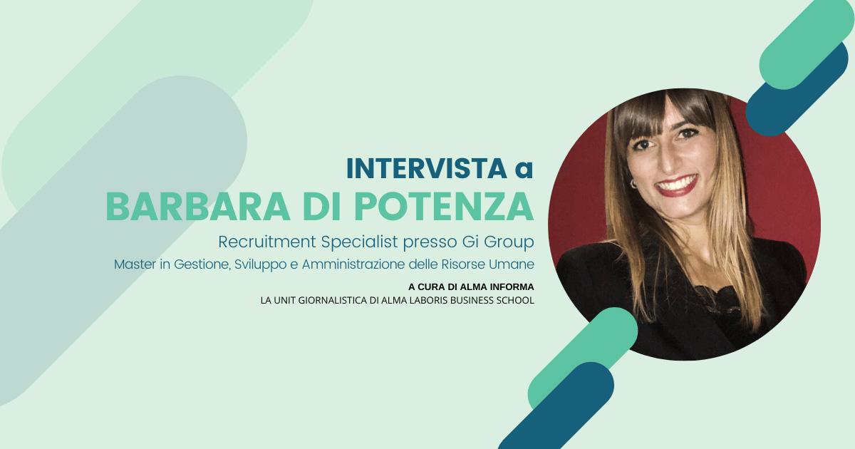 """La dottoressa Barbara Di Potenza: """"Il Master mi ha aiutato tanto per inserirmi nel mondo del lavoro"""""""