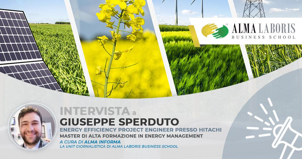 L'ingegnere Giuseppe Sperduto, Master Energy Management