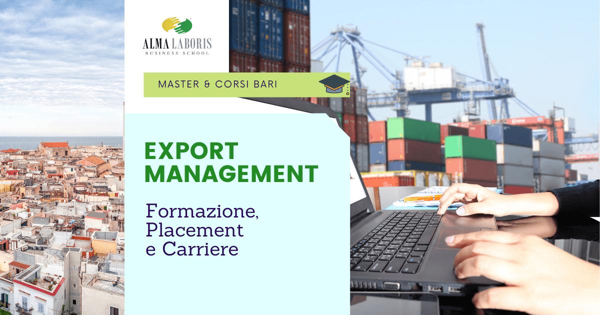 Master Export Manager Bari
