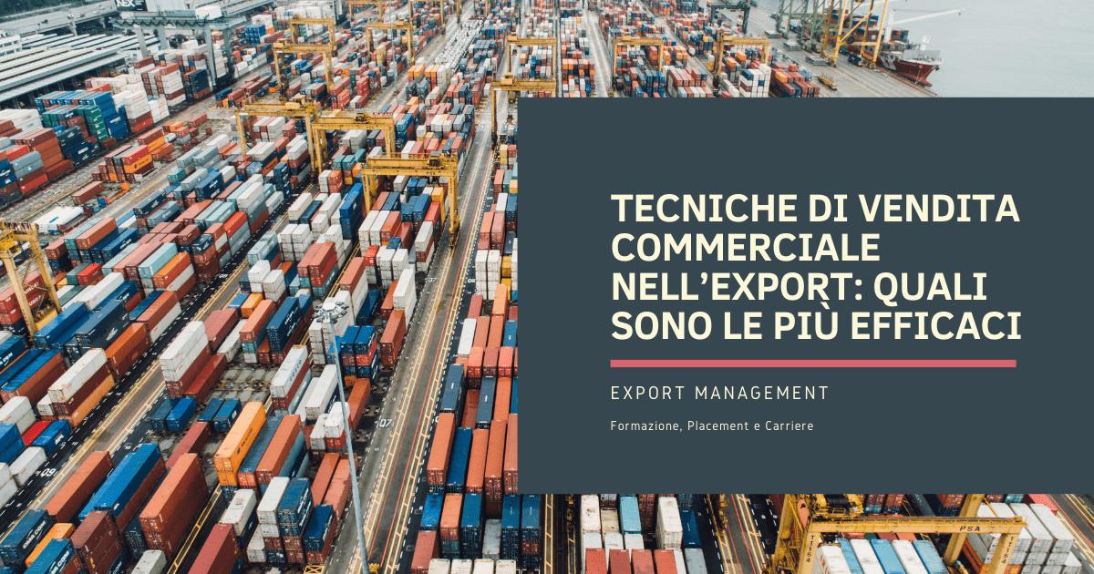 Tecniche di vendita commerciale nell'export