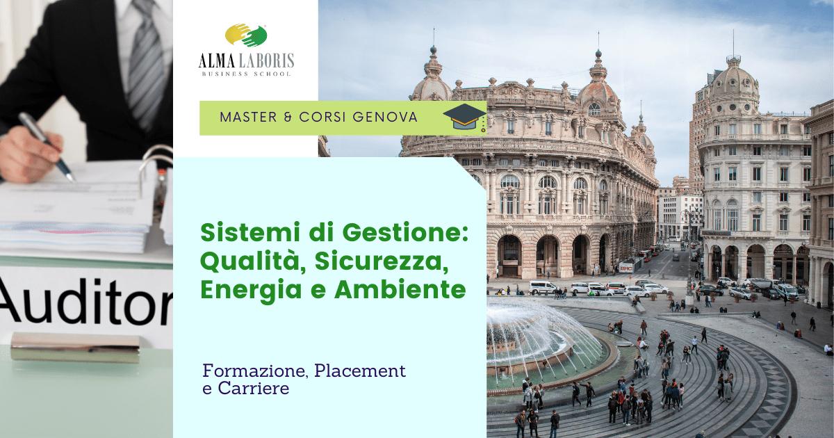 Master Sistemi di Gestione Genova
