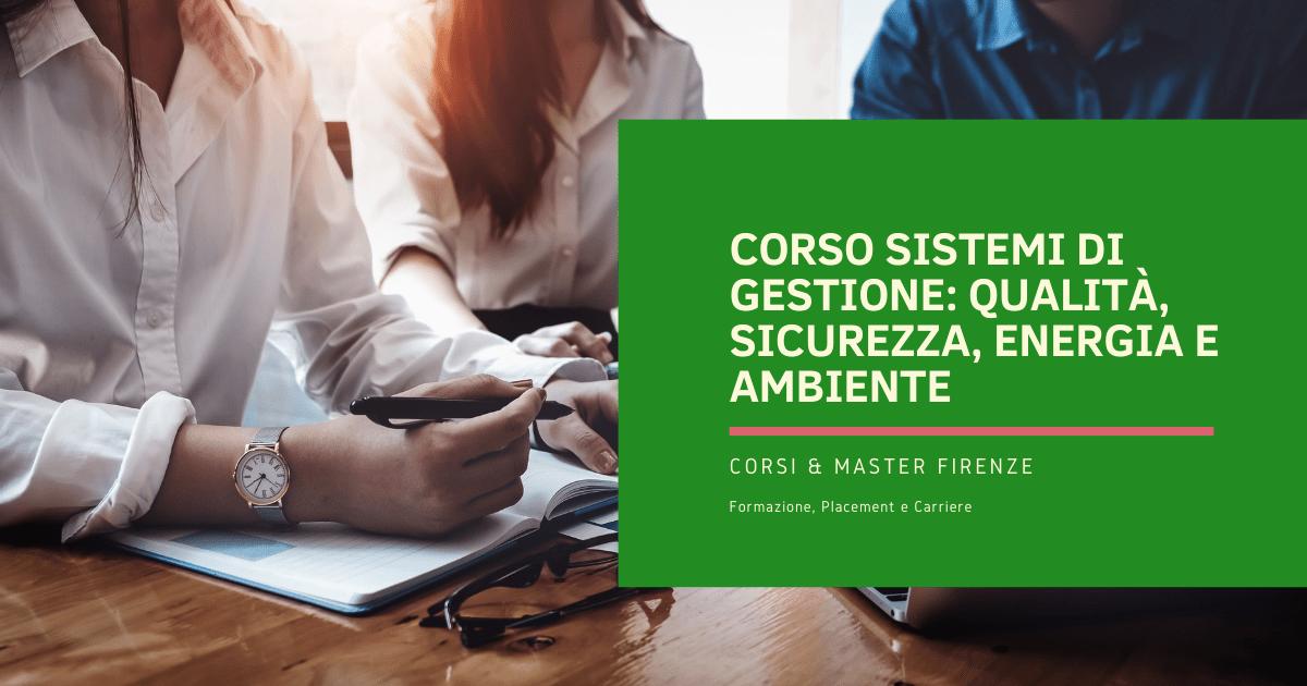 Corso Sistemi di Gestione Firenze